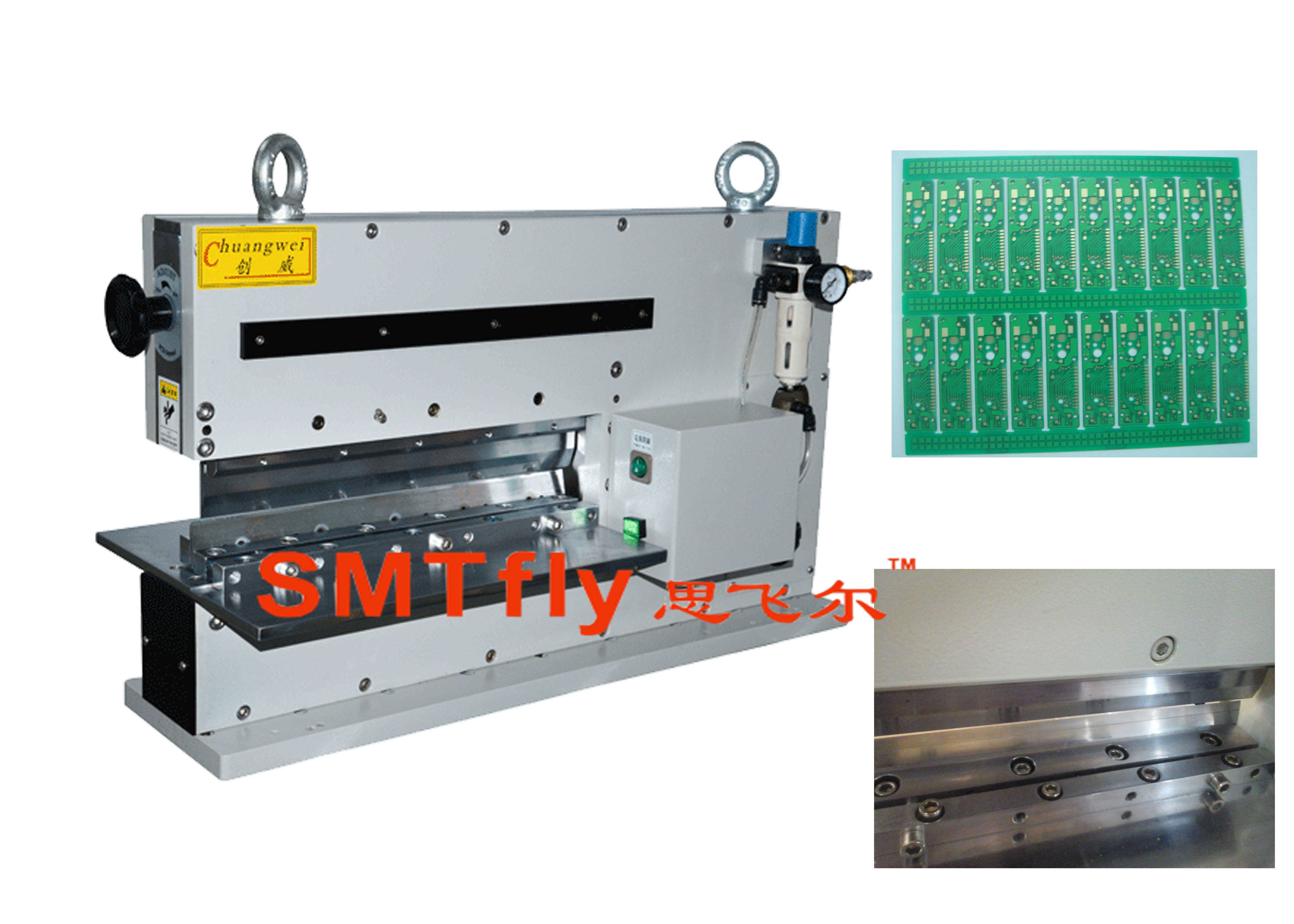 Manul Pcb Depaneling China Automatic V Cut Singulation Machine For Printed Circuit Multilayer Toolsmtfly 400j
